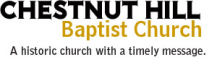 Chestnut Hill Baptist Church Retina Logo